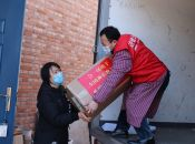 Chinese Catholic Church Association with various others in Society  donate materials to fight against the epidemic