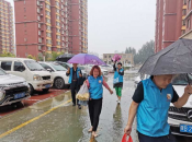 Baotou: Service Team Visiting Patients in the Rain